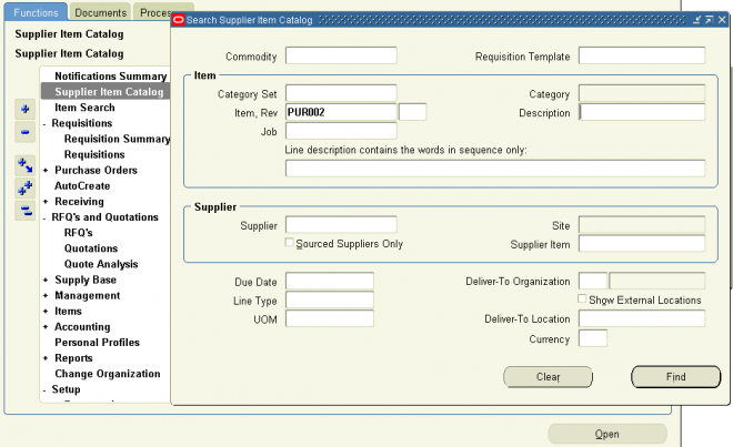 Overview of the Supplier Item Catalog | OracleUG