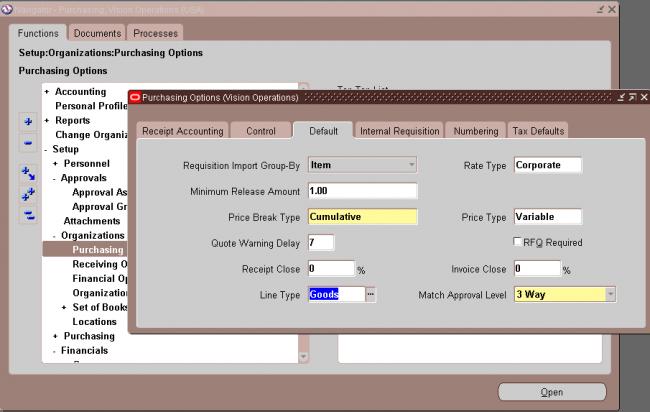 Defining Purchasing Options | OracleUG
